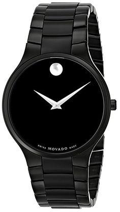 Movado Men's 0606594 Serio Black PVD Watch