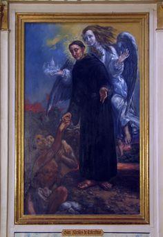 San Nicolás de Tolentino, de Juan Barba. Detalle. Óleo sobre lienzo. 257 x 162 centímetros. Iglesia del convento de Marcilla. Agustinos Recoletos.