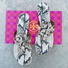 {Tory Burch} Miller Sandals Brand new in box, never been worn. Please be familiar/know your own Tory Burch sizing. ❗️Price is firm, even when bundled❗️  ❌ No Trades/ No PayPal  ❌ No Lowballing  ✅ Bundle Discounts ✅ Ship Same or Next Day 💯 % Authentic Tory Burch Shoes Sandals