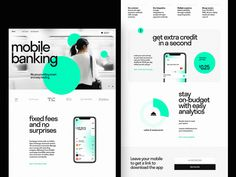 Mobile Banking Landing Page by tubik on Dribbble Landing Page Best Practices, Landing Page Examples, Best Landing Pages, Mobile Landing Page, Web Design Examples, News Web Design, Web Design Basics, Design Ideas, Landing Page Builder