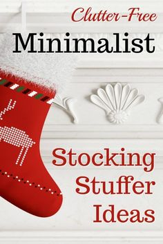 50 Clutter-Free Stocking Stuffers for Minimalists #ClutterFree #StockingStuffers