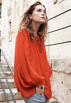 Madewell Sneak peek: Embroidered Openview Tunic, available March 11th at Madewell.com and Madewell stores. Shot on Erin Wasson on location in Malta.