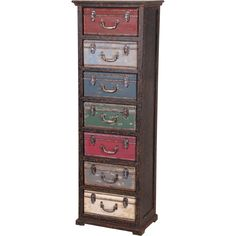 love this look,  Can paint the front of the drawers to look like old suitcases and use old hardware.