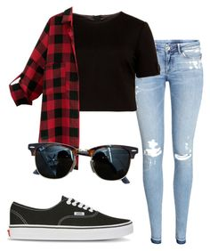 """#No name"" by eemaj ❤ liked on Polyvore featuring H&M, Ted Baker, Vans and Ray-Ban"