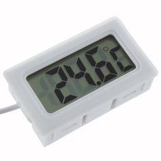 2016 Hot Search 1Pcs Temperature Measurement LCD Display Thermometer Digital for Aquarium Freezer Black and White Color #Affiliate