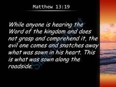 matthew 13 19 this is the seed sown along powerpoint church sermon Slide04  http://www.slideteam.net/