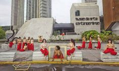 Topless Matisse protest in Caracas
