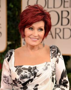 More Pics of Sharon Osbourne Print Layered Bob Hairstyles, Mom Hairstyles, Older Women Hairstyles, Summer Hairstyles, Short Hair Dos, Short Hair With Layers, Short Hair Styles, Mother Of The Bride Hair, Hair Color And Cut