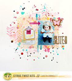 Christin aka Umenorskan scrapper: Sliten - Citrus Twist Kits August Reveal