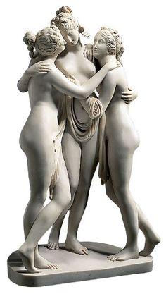 Sculpture: Antonio Canova - Sculpture The Three Graces (1813-1816) reduction in artificial marble