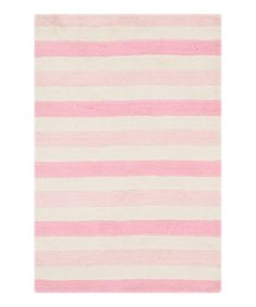 Another great find on #zulily! Pink Stripes Lola Shag Rug #zulilyfinds