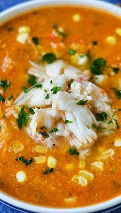 Crab & Sweet Corn Soup: