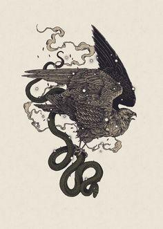 'Bird Of Prey' Giclee Print. | Richey Beckett