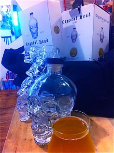 Have you got your bottle of Crystal Head Vodka for Halloween?  Subscribe to my brand new Youtube Channel: www.youtube.com/ThirstyWithATwist and don't miss my special Halloween cocktail recipe just for you!  Cheers! Crystal Head Vodka, You Got This, Just For You, Iron Chef, Halloween Cocktails, Cocktail Recipes, Cheers, Channel, Crystals