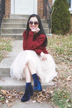 choker sweater, tulle skirt, velvet boots, cateye glasses, Michael Kors clutch #momstyle #momfashion #fallstyle #fallfashion #winterstyle #winterfashion | choker sweater outfit | choker sweater outfit winter | tulle skirt outfit | tulle skirt outfit winter | tulle skirt outfit christmas | velvet boots outfit | velvet boots outfit winter | holiday style | holiday style outfits | holiday style christmas | christmas outfit | new years eve outfit ideas | new years eve outfit | new year outfit