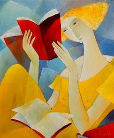 Reading and Art: Françoise Collandre Girl Reading Book, Reading Art, Woman Reading, Love Reading, World Of Books, I Love Books, Love Art, Oeuvre D'art, Female Art
