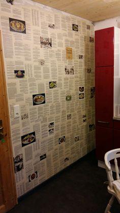 Kochbuch an der Wand
