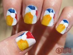 Art Beach Ball Nails nails