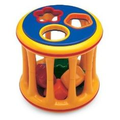 Toy / Game Tolo Toys Rolling Shape Sorter with Rattling Sound, Shapes – Helps Develop Strength And Agility  - Click image twice for more info - see a larger  of  baby shape sorter toys   at  http://zbabybaby.com/category/baby-categories/baby-and-toddler-toys/baby-shape-sorter-toys/ - gift ideas, baby , baby shower gift ideas, toy  « zBabyBaby.com