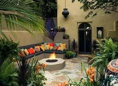 Image result for small mediterranean gardens