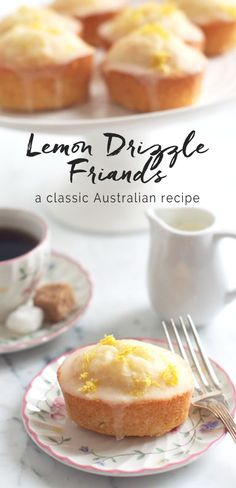 Recipe for Lemon Drizzle Friands with step-by-step photos, plus tips on where to buy friand tins. Friands are similar to the French financiers and are made with ground almonds and egg whites for a light and fluffy cake. Lemon Recipes, Sweet Recipes, Baking Recipes, Cake Recipes, Dessert Recipes, Desserts Français, Delicious Desserts, Yummy Food, Fancy Desserts