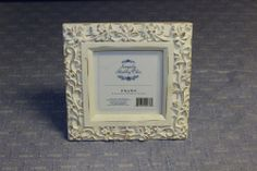 "Simply Shabby Chic Picture Frame, 4"" X 4"" (10cm X 10cm) Ceramic Material"
