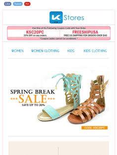 Check out this SPRING BREAK SALE newsletter.