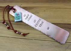 So Many Books Copper Stamped Metal Bookmark by FHGoldDesigns