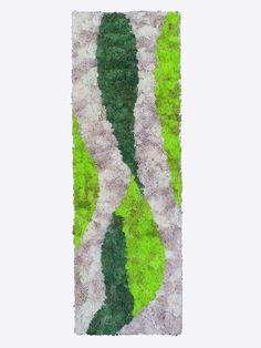 Tableau Mur végétal stabilisé JUNGLE 90 x 30 cm : Décorations murales par caly-design-vegetal Moss Wall Art, Moss Art, Moss Decor, Moss Garden, Craft Club, Art Moderne, Plant Wall, Design Crafts, Indoor Garden