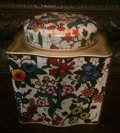 Daher Tin Vintage Collectable Floral Tea Tin Made in England by MidCenturyAmericana on Etsy