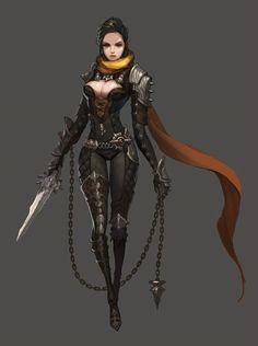 racter concept, john koo : Personal project character concept by john koo on ArtStation. Fantasy Female Warrior, Female Armor, Warrior Girl, Fantasy Armor, Fantasy Women, Medieval Fantasy, Fantasy Girl, Female Character Concept, Fantasy Character Design