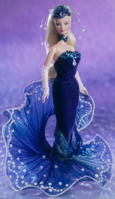 barbie doll evening gowns..Water Rhapsody Barbie 1998. 12 16 6.