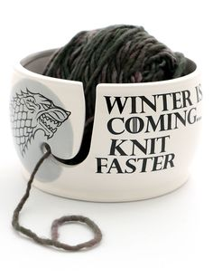 Game of Thrones Yarn Bowl - #ad Winter Is Coming Knit Faster with Stark dire wolf tba