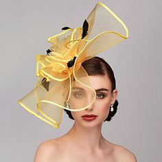 Feather / Net Kentucky Derby Hat / Fascinators / Headpiece with Feather / Floral / Flower Wedding / Special Occasion Headpiece hats kentucky derby Hats Short Hair, Millinery Hats, Kentucky Derby Hats, Fancy Hats, Wedding Hats, Hat Hairstyles, Headpieces, Fascinators, Hats For Women