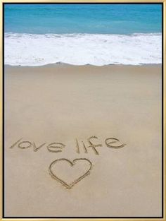 Beach on Fire Island, Ny with the Words 'Love Life' Written in the Sand Photographic Print by Marie Hickman at Art. Fire Island Ny, Long Island, Mahalo Hawaii, Concours Photo, I Love The Beach, Beach Fun, Sand Beach, Romantic Beach, Blue Beach