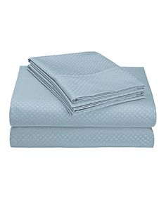 Look at this #zulilyfind! Light Blue Four-Piece Sheet Set #zulilyfinds
