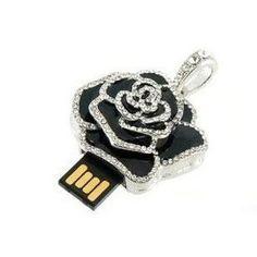 Pendrive Personalizado - joia Rosa Negra R 81.90 Colar De Rosa, Pen Drive  Usb, a4af48865f