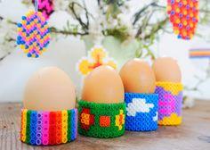 Oster-Eierbecher aus Bügelperlen | DIY LOVE