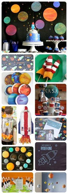 Planning an astronaut space party - Parties - theme/galaxy/celestial/astronaut - Birthday Outer Space Party, Outer Space Theme, First Birthday Parties, Birthday Party Themes, First Birthdays, Birthday Ideas, 5th Birthday, Birthday Gifts, Happy Birthday