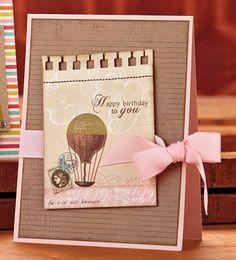 Vintage Birthday Balloon Card by @Vanessa Menhorn