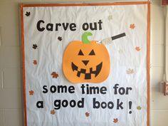 Halloween bulletin board - library