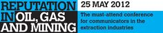 Reputation in Oil, Gas and Mining conference programme