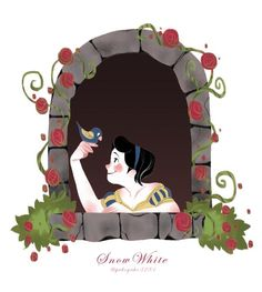 Snow White by Yaho Yaho for @Sketch_Dailies