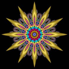 Fractal of the Month - August 2004 - Sunflower Fantasia