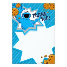Baby Cookie Monster Digital Banner Cookie Monster Party