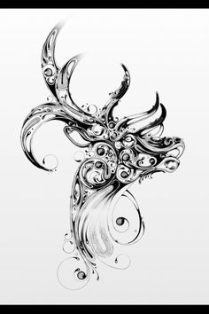 Drawing of a deer