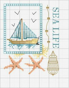 397 best cross-stitch - summer images in 2018 Cross Stitching, Cross Stitch Embroidery, Hand Embroidery, Cross Stitch Patterns, Cross Stitch Sea, Cross Stitch Flowers, Minnie Baby, Crochet Cross, Needlepoint
