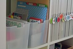 Two ITSO bins from Target fit perfectly in an Expedit from IKEA! This makes me happy. :) **new link