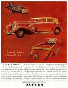 Vintage Auburn Ad - 1934