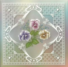 """Beautiful!  This can be a """"Praying for You"""" card.  Let the person know that you were praying for them while you were making this potentially labor-intensive card."""